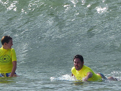 happy learning sessions with surf school sri lanka