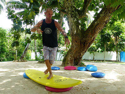 jump up on surf board