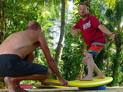 surf coaching on dry land