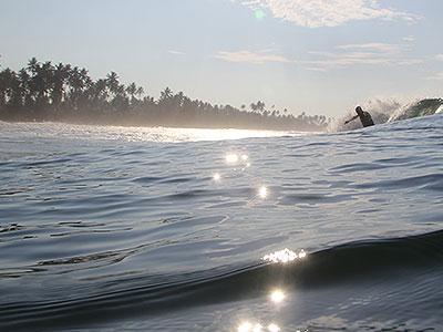 glassy warm waves