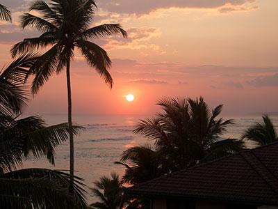 sri lanka surfing sunset