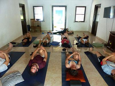 sup yoga at Surf School Sri Lanka